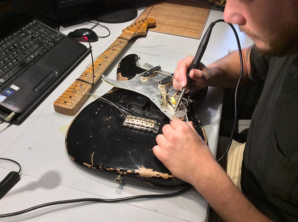 Guitar pickup modification