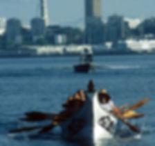 Canoe w Space Needle background
