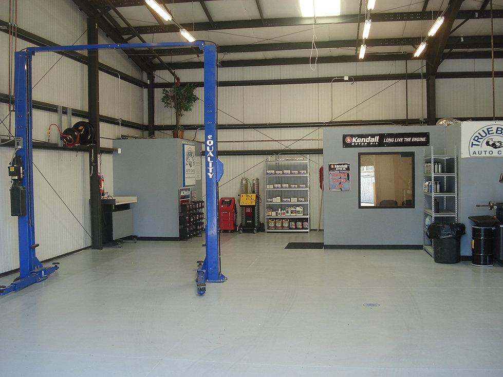 True blue auto care orangevale auto repair for Mechanic shop flooring