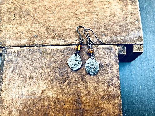 Sunshine & Storm - Amber earrings