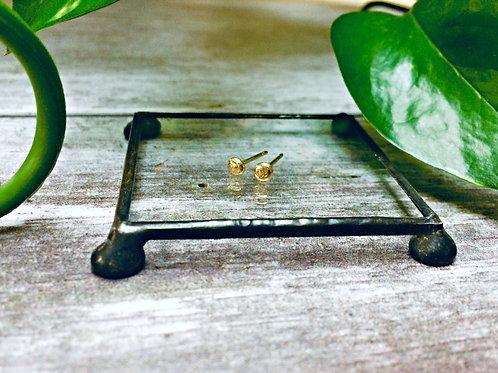 Molten Gold - 18 carat Gold studs