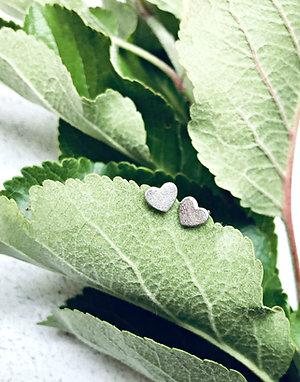 'All We Need' - small heart studs