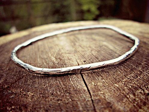 'Vine' - Silver bangle