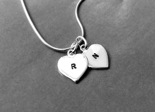 In this heart - monogram necklace