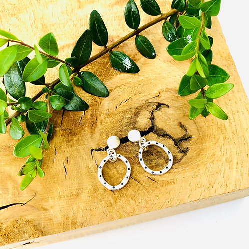 'Stepping Stones' Dotty - cute Silver studs