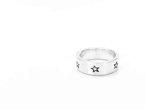 """To The Stars"" - chunky hammered ring"