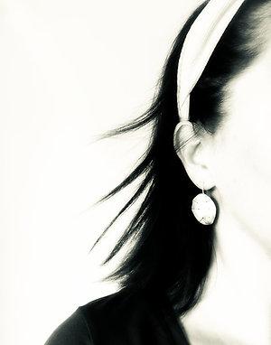 'Honesty' Seed Pod - statement earrings