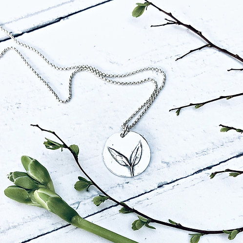 "Botanical - ""Seedling"" necklace (great things come from small beginnings)"