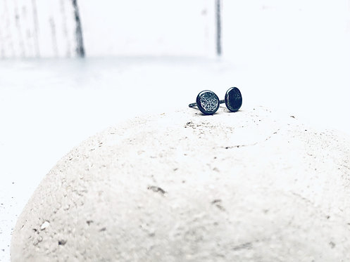 'Molten' - teeny recycled Silver studs
