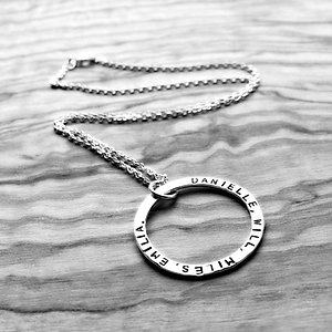 Big Fat Moon - personalised necklace