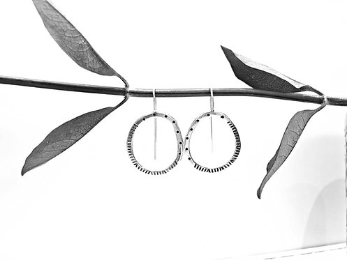 'Stepping Stones' Pattern - stamped earrings
