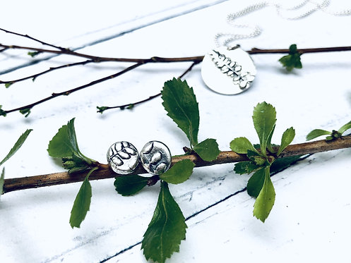 "Botanical - ""Linton"" necklace & earrings set (bloom where you are planted)"