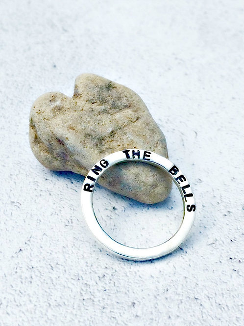 Ring The Bells - personalised stacking ring
