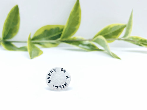 Personalised Silver Pin Badge