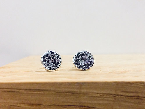 Floral Texture - Silver studs