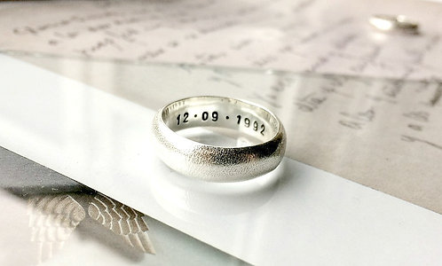 'Frost' - chunky Silver textured ring
