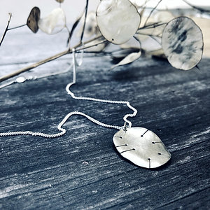 'Honesty' Seed Pod - Silver necklace inspired by nature