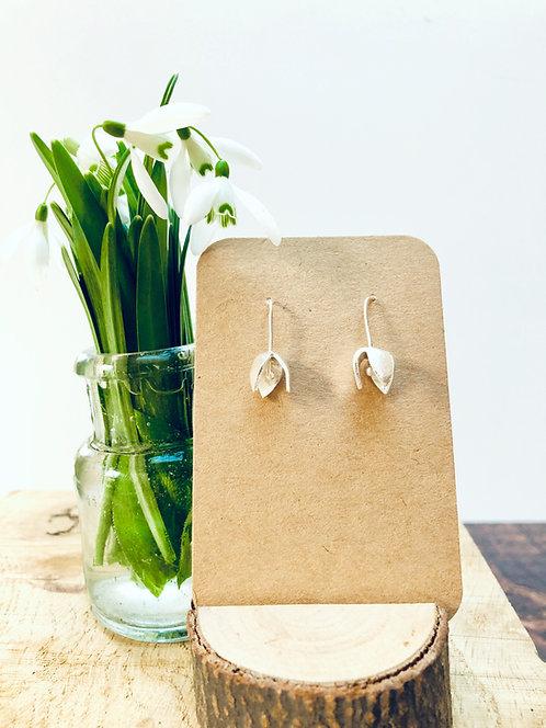 'Snowdrop' - beautiful Silver earrings