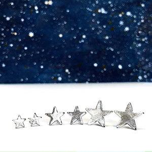 'Twinkle twinkle' - frosty star studs