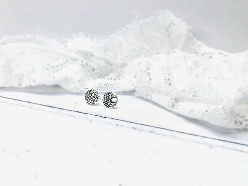 English Lace - textured earrings