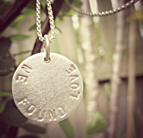Silvery Moon - personalised necklace