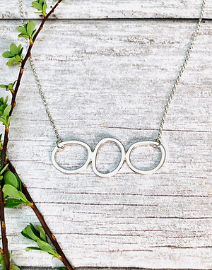 Stepping Stones - wonderfully wonky necklace