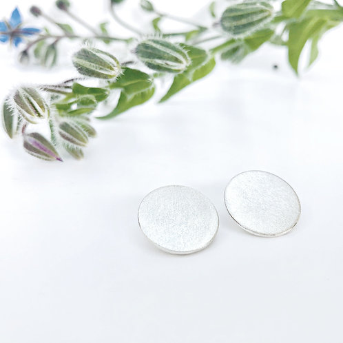 Silvery Moon - clip-on earrings for non pierced ears