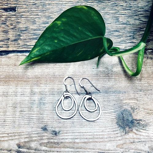 'Stepping Stones' -double hoop earrings