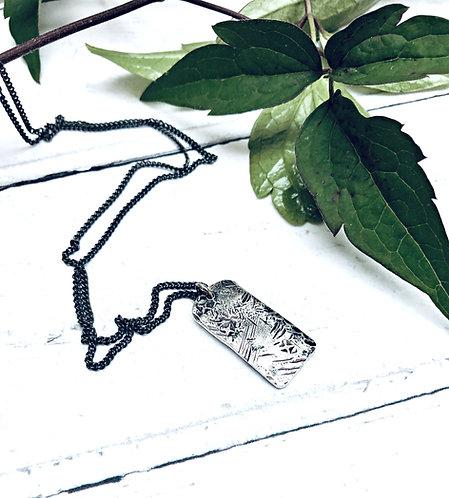 """""""Beaten Track"""" - midi tag necklace"""