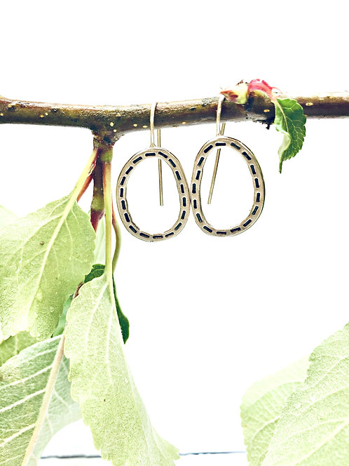 'Stepping Stones' In Stitches - handmade Silver earrings