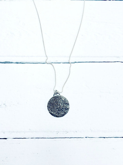 Shadow - Sterling Silver reticulated necklace