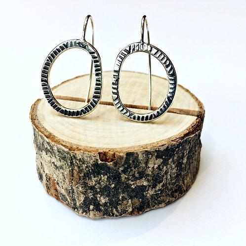 The Old Tracks - Silver hoop earrings