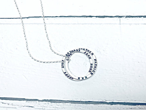 Infinity - personalised Silver necklace
