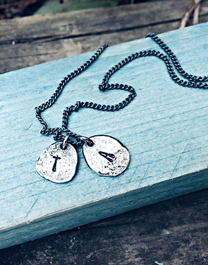 """""""Molten"""" - personalised initials necklace"""