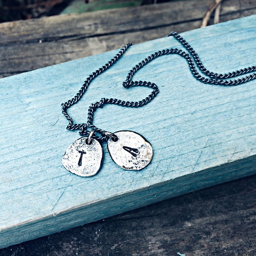 """Molten"" - personalised initials necklace"