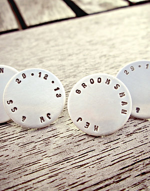 Personalised Cufflinks - suitable for French cuffs