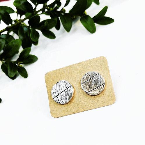 'Leaf' - large Silver studs