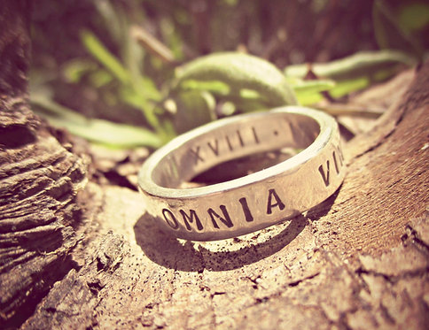 Right time, right place - personalised ring