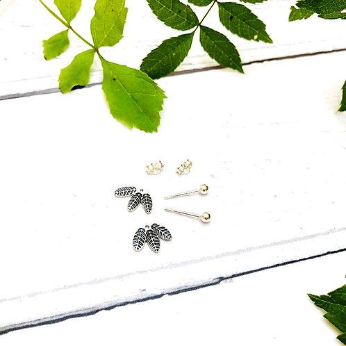 'Leaf' - two part earrings (2 designs in 1!)
