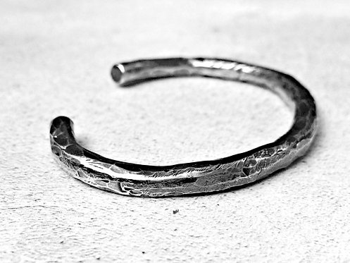 'Cassius' - heavyweight chunky solid Silver cuff