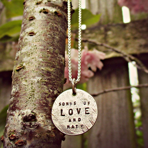 Beaten Track - personalised necklace