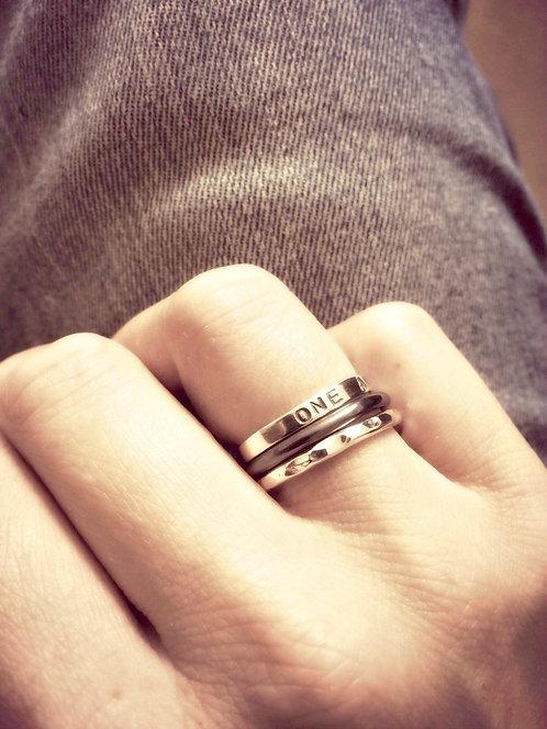 Little Silver - handmade ring stack