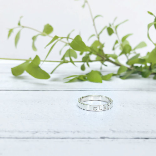 Text Ring - personalised Silver jewellery