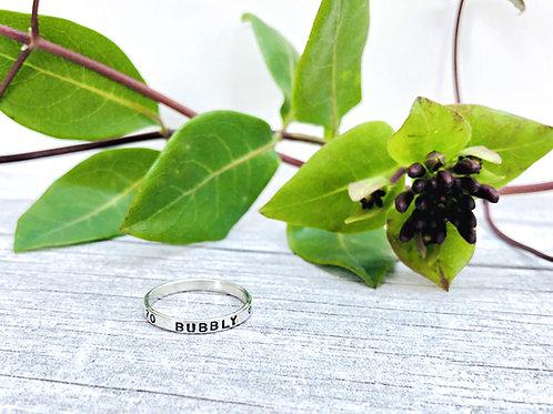 Teeny - simple personalised Silver ring