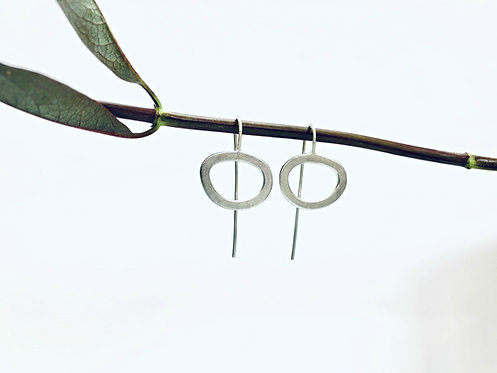 'Stepping Stones' Frost - textured earrings