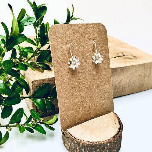 'Daisy' - Silver hook earrings