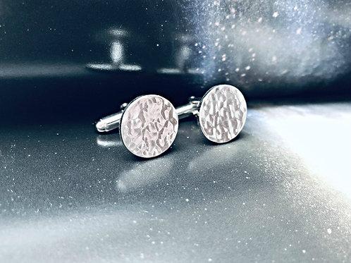 """""""Full Moon"""" - handmade Silver cufflinks"""