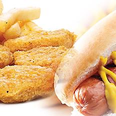 Menu Hot Dog classic & nuggets