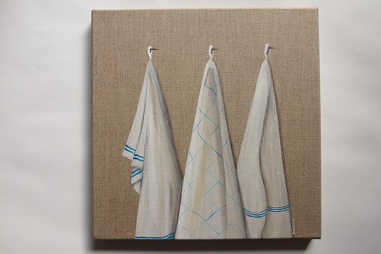 Trio de torchons bleus