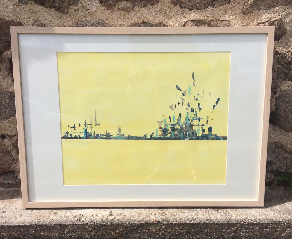 Paysage abstrait jaune